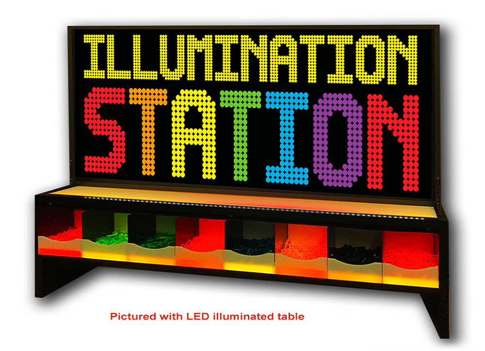 Giant Light Bright Illumination Station setup of the game with LED illuminated table for rent
