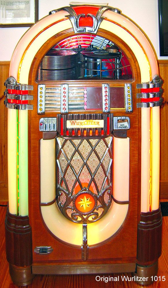 Wurlitzer 1015 jukebox was manufactured from 1946 to 1947