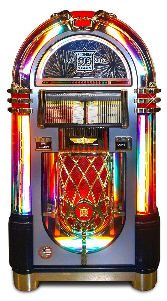 The jukebox is a remake of the originalWurlitzer 1015 model.
