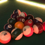 LED Lights Pool Table Game Rental