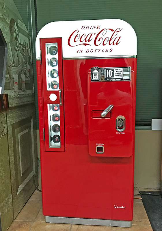 Coca Cola machine restored by Rick' ms Resotartions in Las Vegas.