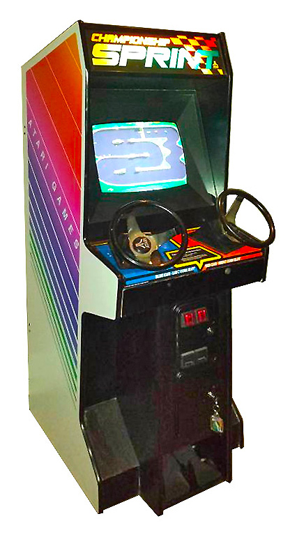 Championship Sprint Classic Arcade Game from Atari rental by Video Amusement