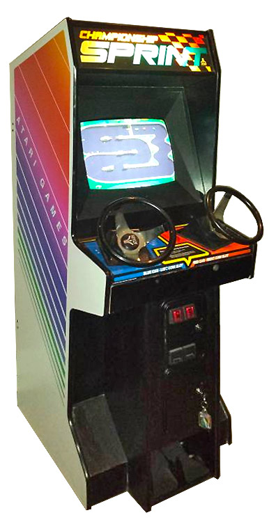 Classic arcade game from late 80s' - Championship Sprint from Atari games