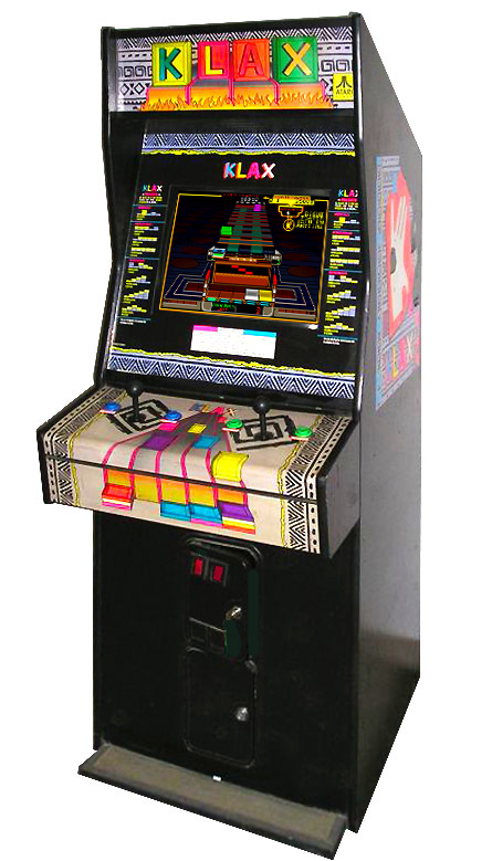 Classic puzzle arcade game Klax from make ATARI Games.