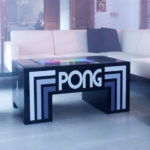Attractive multifunctional table Pong Arcade game game available for rent from Video Amusement.