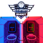 Rented Hyper Shoot Basketball with overhead Marquee from Video Amusement