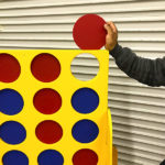 Double Giant Connect 4 puck for Rental Video Amusement