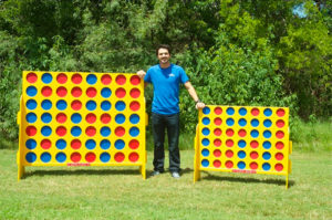Double XL Connect 4 game compared to the smaller Giant Connect 4