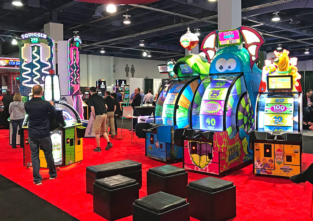 Amusement EXPO 2018 Bay Tech Games booth at EXPO 2018
