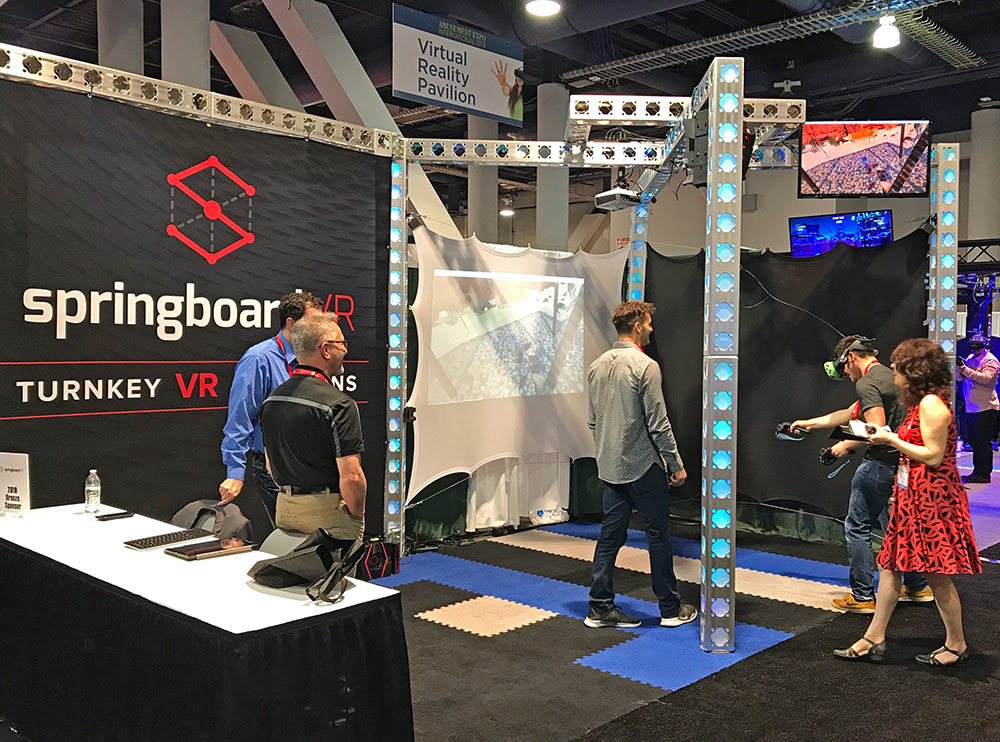 Springboard VR display at the 2018 show