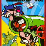 Classic Mario Bros 80s arcade game rental sideart printed at Video Amusement