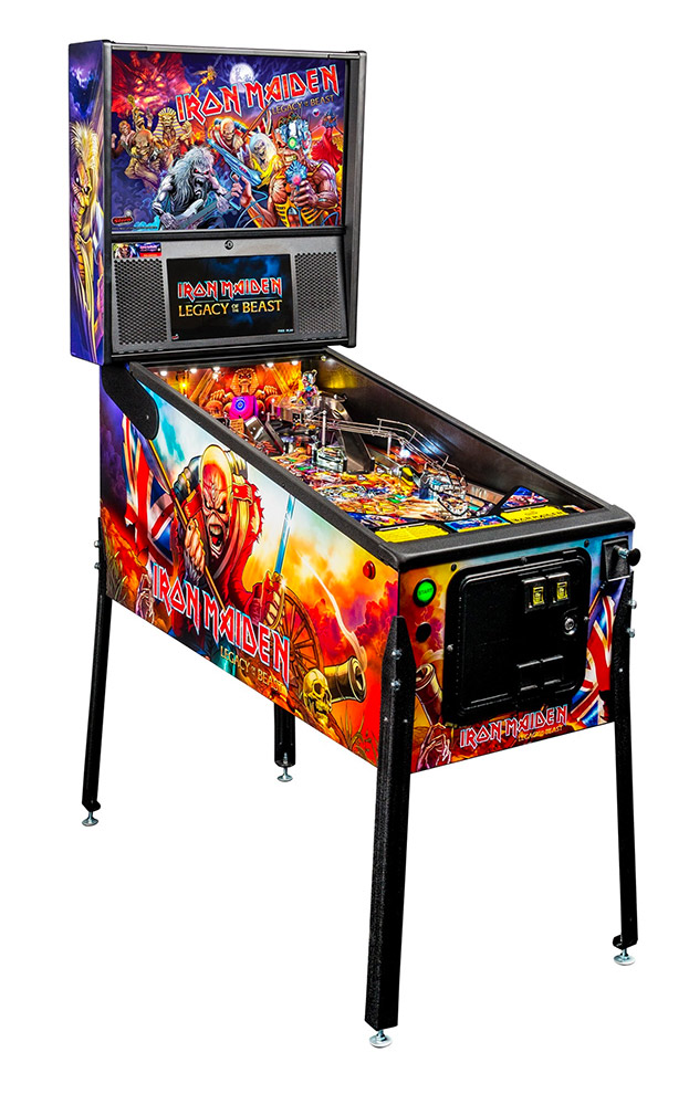 Iron Maiden Pinball game from Stern Pinball available for rent from Video Amusement