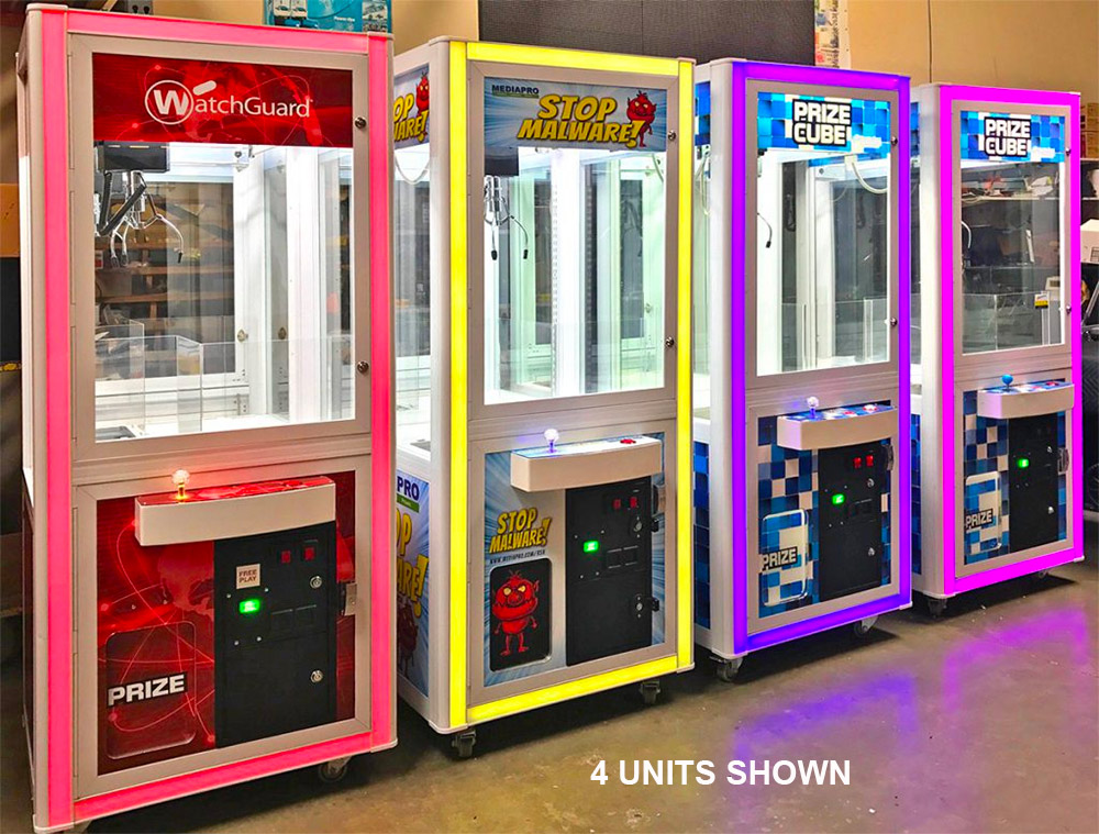 LED Glowing Arcade Crane Game Rental only available from Video Amusement