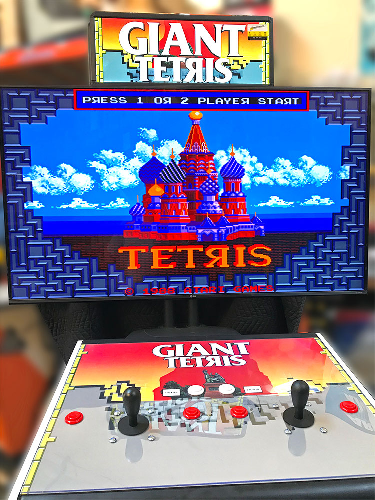 Giant Tetris Classic Arcade Game Rental - Video Amusement Arcade