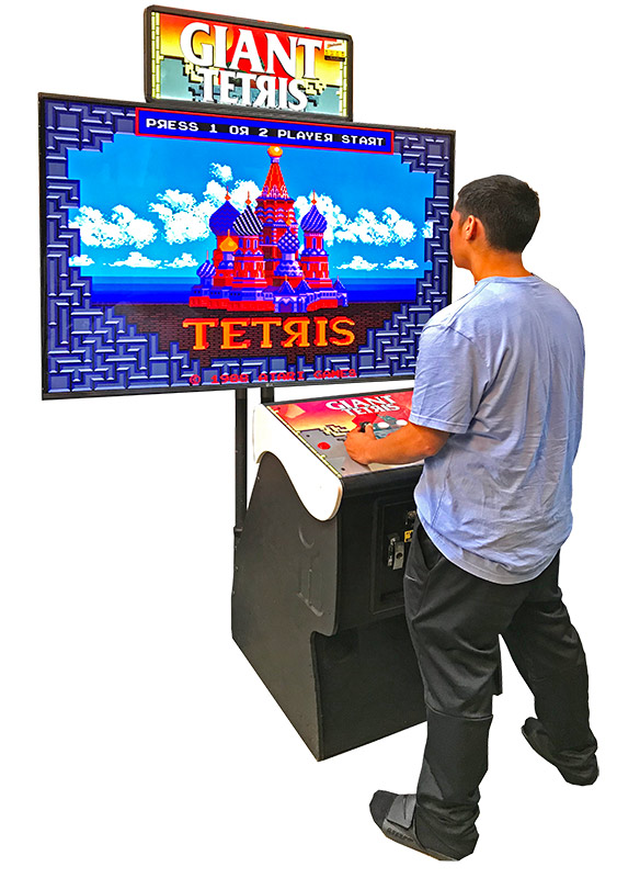 Giant Tetris Classic Arcade Game Atari Rental San Francisco California