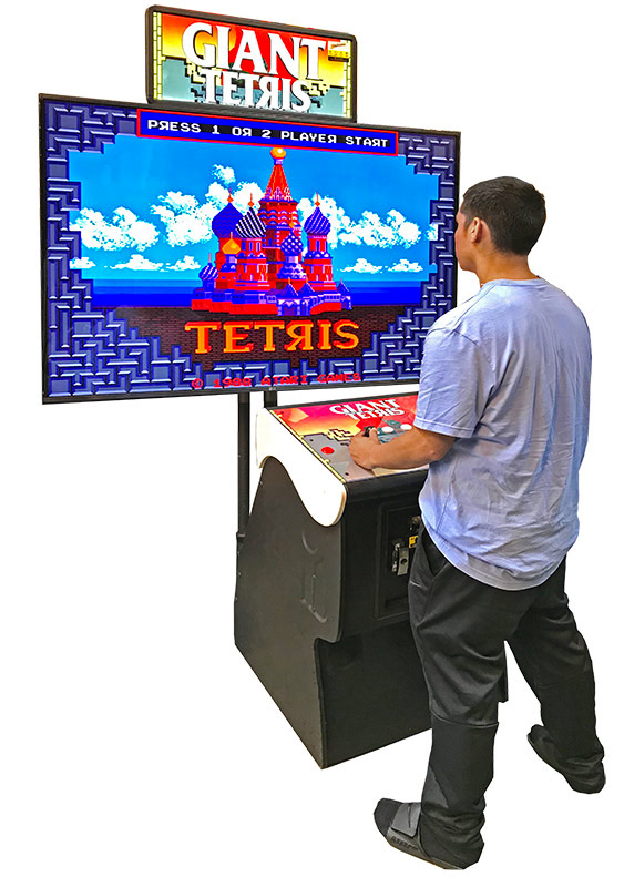 Giant Tertis Classic Arcade Game available from Video Amusement