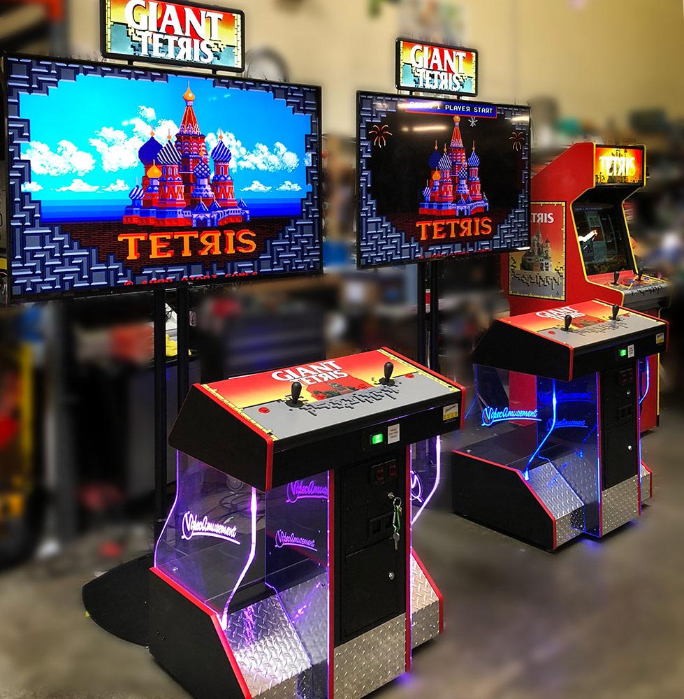 Giant Tetris Classic Arcade Game Rental - Video Amusement Arcade