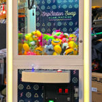 Custom branded Prize Cube crane game with 4inch capsules is available only from Video Amusement