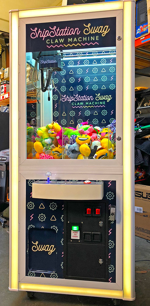 Custom branded Prize Cube crane game