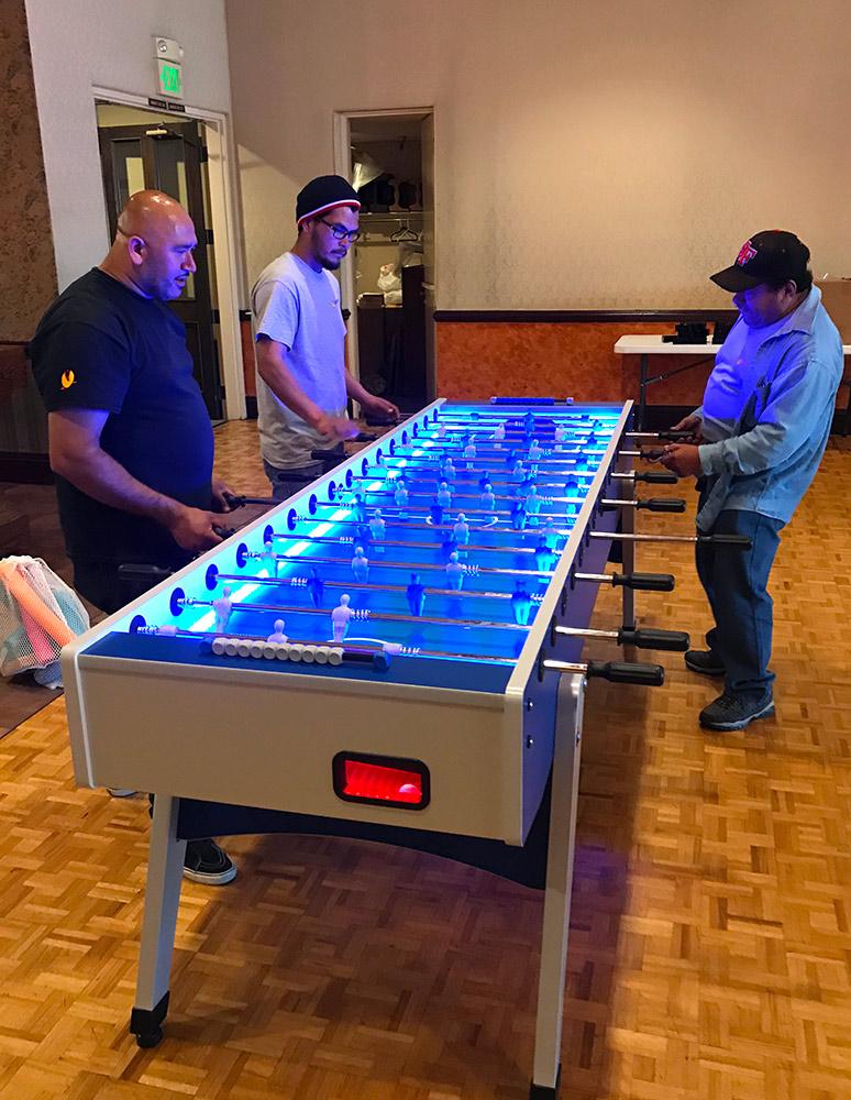 Jumbo LED Lighted Foosball Table Racing Simulators Pinball Game - Foosball table light