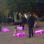 LED cornhole games during event provided by video Amusement