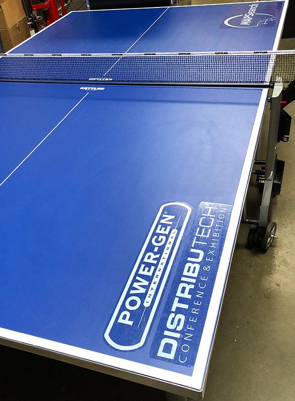 Ping Pong table with branding