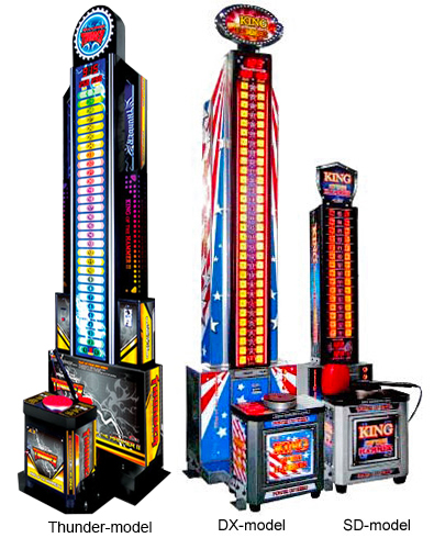 King of Hammer arcade game. SD, DX and Thunder models available for rent from Video Amusement.