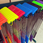 Colorful selection of clubs ready for the clients from Video Amusement