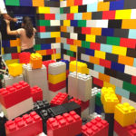 Building with giant legos rental San Francisco available from Video Amusement