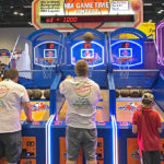 Competitive game play on rented basketball arcade games from Video Amusement