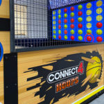 Connect four hoops Arcade Game Graphics Detail for rent at Video Amusement