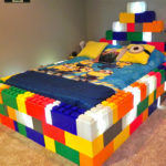Giant Lego bed made for the home.