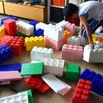 Giant Lego in action during rental event, Video Amusement