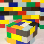 Giant Lego wall and table rental demonstration, available from Video Amusement