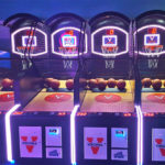Interactive LED Basketball Game Rented with Custom Team Logos made by Video Amusement
