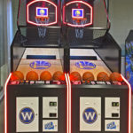 LED Glowing Custom Team Branding Rental Basketball Arcades by Video Amusement San Francisco California
