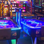 LED Airhockey ICE Games Arcade game rental San Francisco only from Video Amusement