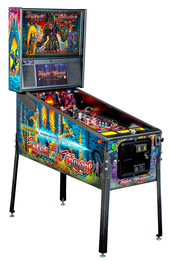 Black Knight Swords of Rage Stern Pinball Machine rentals from Video Amusement