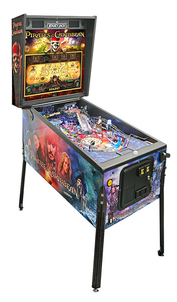 Jersey Jack Pirates of the Caribbean Pinball Video Amusement rental San Francisco