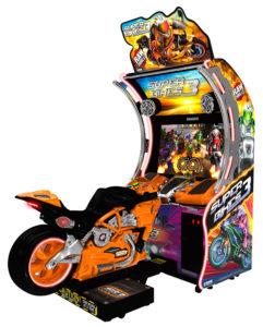 Super Bikes 3 Orange Raw Thrills Motorcycle Arcade Game For Rental San Francisco California