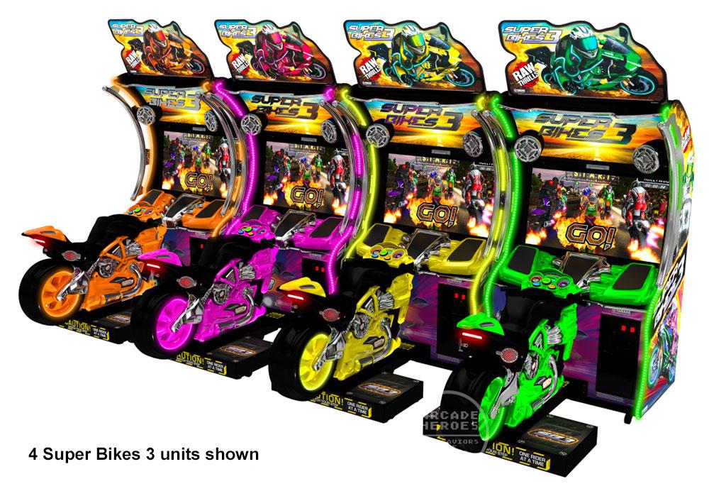 Super Bikes 3 Motorcycle Arcade Racing Video Amusement