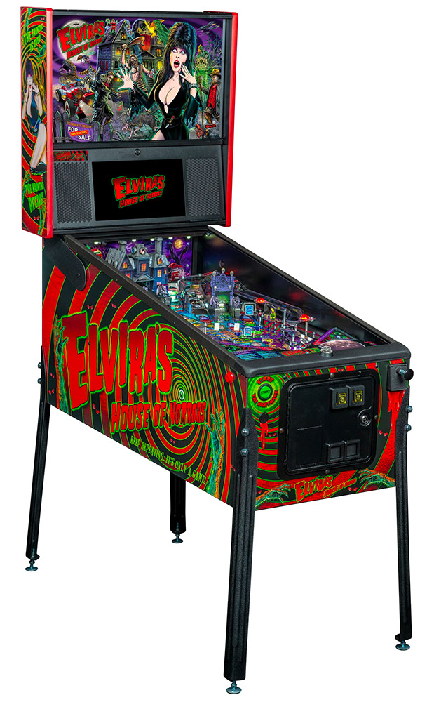 Evira House of Horrors Stern Pinball machine for rent San Francisco Video Amusement