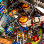 Jurassic Park pinball detailed image of the playfield available from Video Amusement