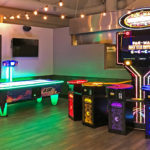 LED Air FX Air Hockey and Pac Man Battle Royale games on rental location San Jose Bay Area