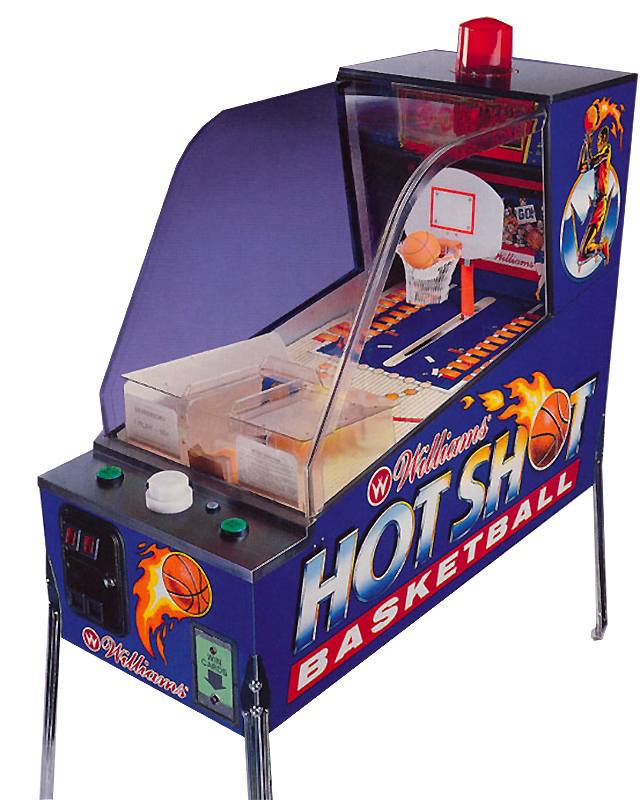 Hot Shot Basketball Pinball Williams Game for Rent