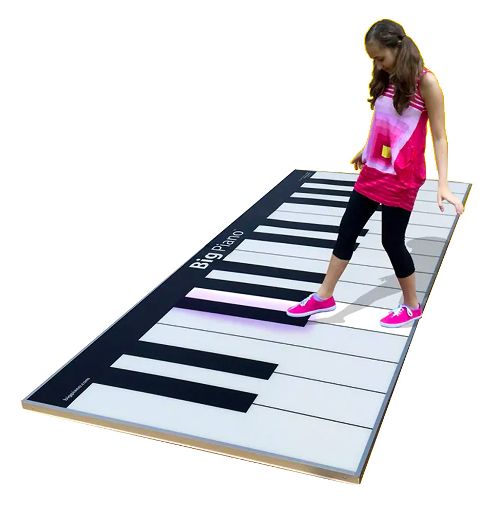 Giant Floor Piano Keyboard for rent Video Amusement San Francisco