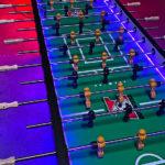 Giant XXL 16 player LED foosball table rental San Francisco