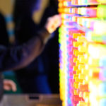 Colorful Giant Brite Lite Game during rental event Bay Area California