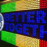 Customized Giant Lite Brite Game for Los Angeles rental event