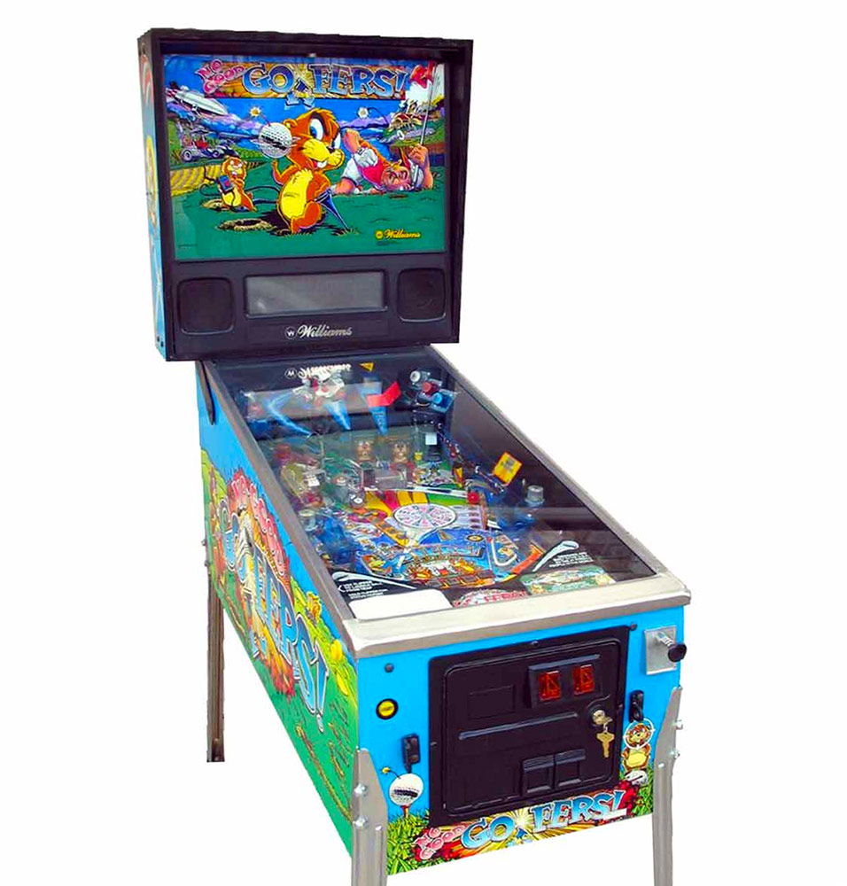 "No Good Gofers Pinball Machine Video Amusement Rental -Get ""hole-in-one"" - the greatest shots in pinball history."